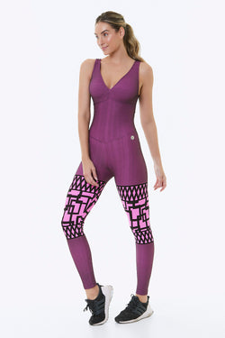 Pink Square Workout Jumpsuit