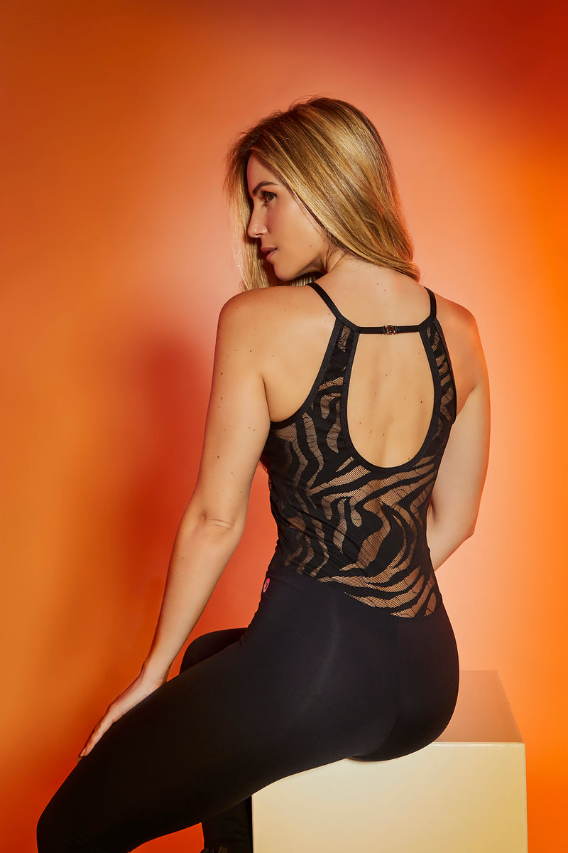 LACE WORKOUT JUMPSUIT