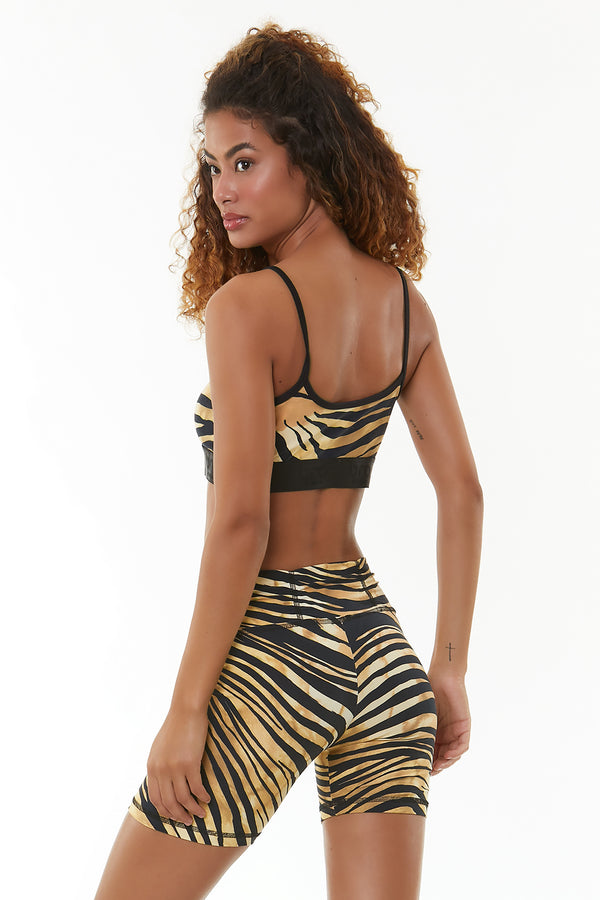GOLDEN ZEBRA SPORTS BRA