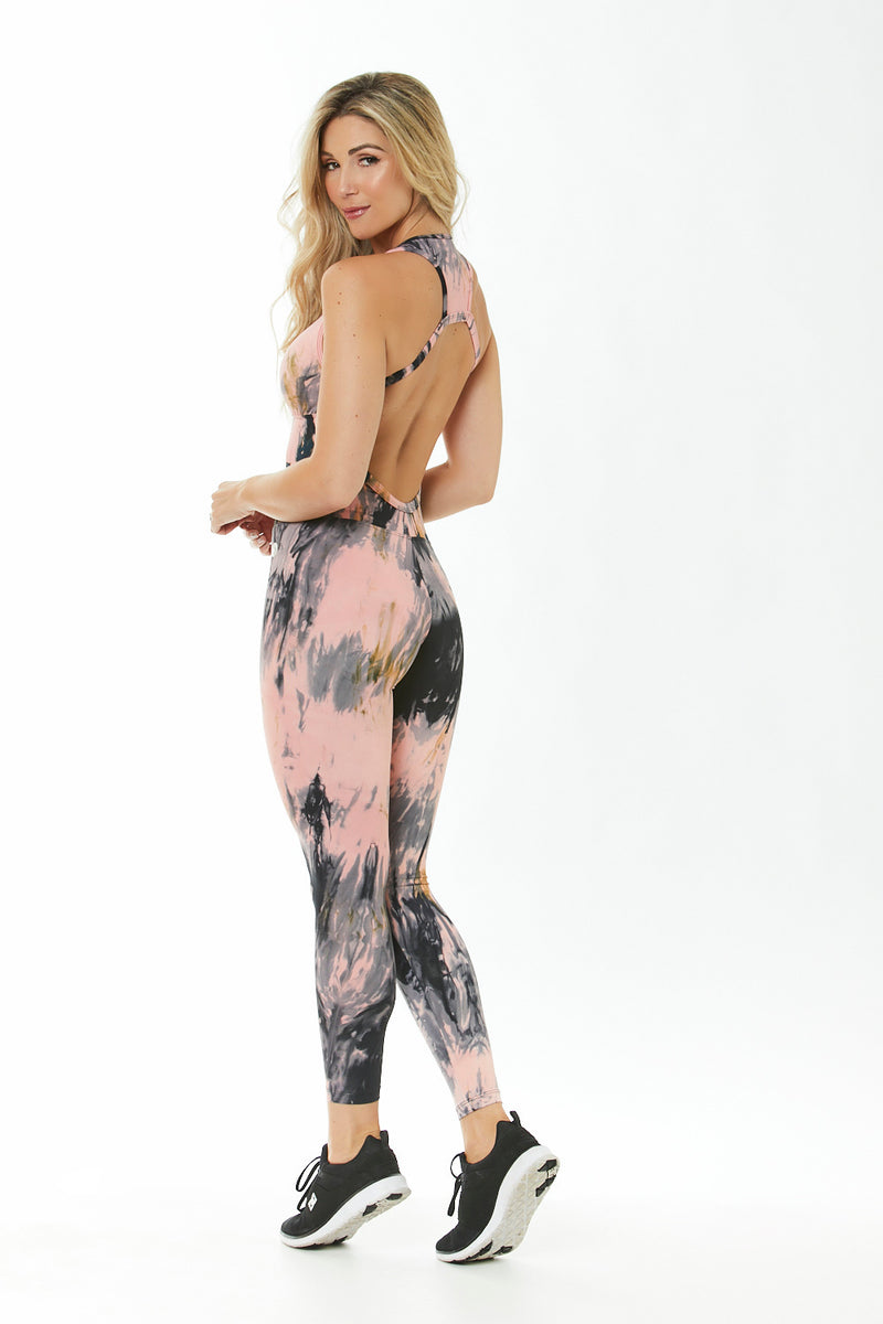 DESIRE - TIE DYE WORKOUT JUMPSUIT