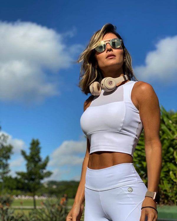 WHITE CROP TOP - ELEGANCE