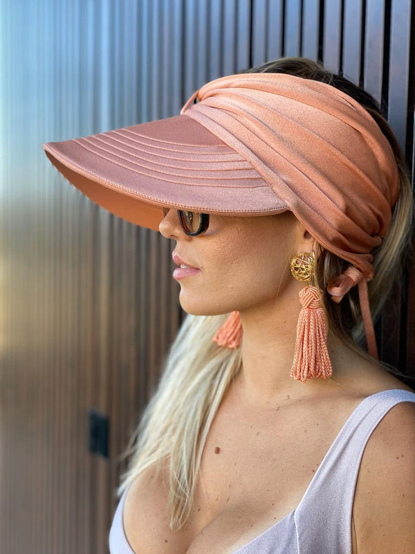 CORAL VISOR SUMMER HAT