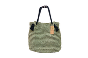 Seagrass Bag With Braided  Leather Ring Straps