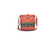 Big Hemp Sling Bag with Hmong Brocade Pattern