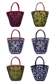 Bucket Bag with Traditional Hand Drawn Batik Pattern