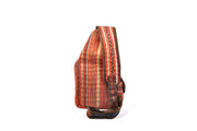 Large Linen Sling Bag with Front and Side Compartments