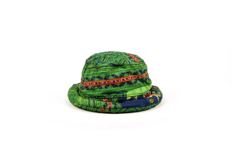 Bucket Hat with Traditional Brocade Patterns