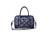 Large Rectangular Travel Bag with Traditional Hand Drawn Batik Pattern