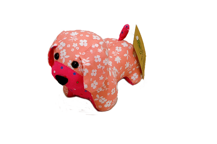 Stuffed Puppy Made Of Floral Cotton Fabric
