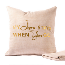 Handmade Linen Pillow Case - Gold
