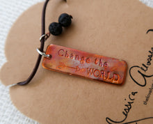 """Change the World"" - Handcrafted Necklace"