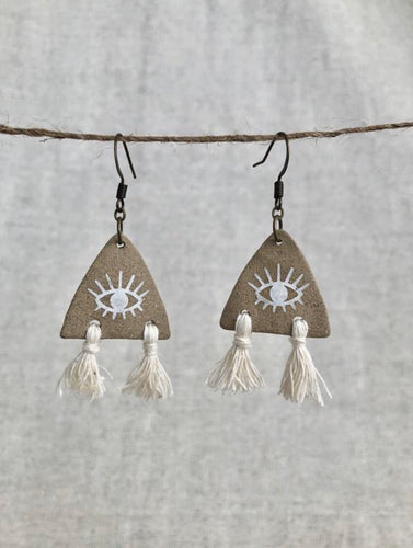 Third Eye Tassel Earrings