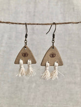 Load image into Gallery viewer, Third Eye Tassel Earrings