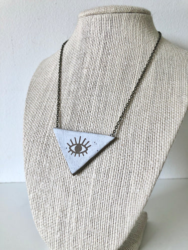 Third Eye Triangle Necklace