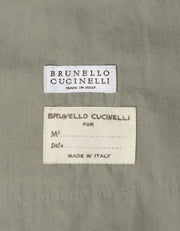 Brunello Cucinelli Green/Grey Cotton Coat sz 42