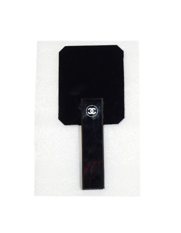 Chanel Black CC Hand Mirror