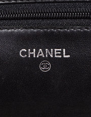 Chanel Black Lambskin Leather Quilted WOC Wallet on a Chain Crossbody Bag