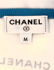 Chanel '17 White/Coral Cotton Paris-Cuba T-Shirt sz M