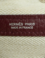 Hermes Burgundy Negonda Leather Garden Party 30 Bag