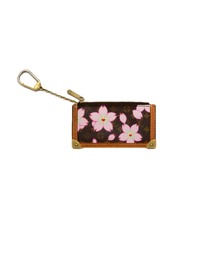 Louis Vuitton Edition Monogram Cherry Blossom Key Pouch/Coin Purse