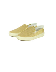 Saint Laurent Gold Glitter Wolly Slip-On Sneakers sz 39