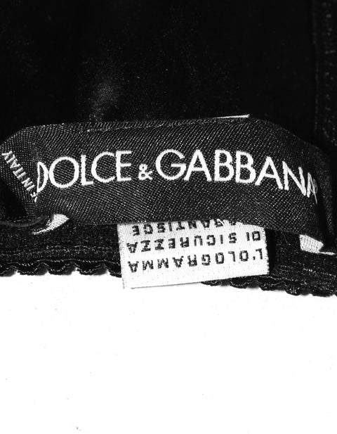 Dolce & Gabbana Black Satin Bra Sz IT5/US40