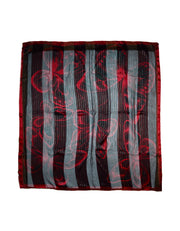 Valentino Black/Red Sheer Scarf W/ Butterflies 54""