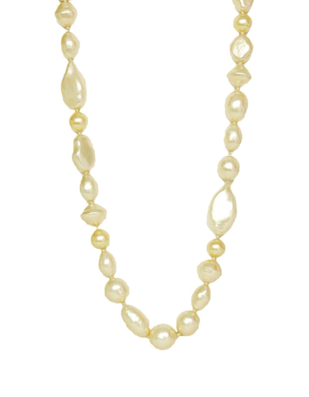 Chanel Vintage 1983 Long Pearl Strand Necklace