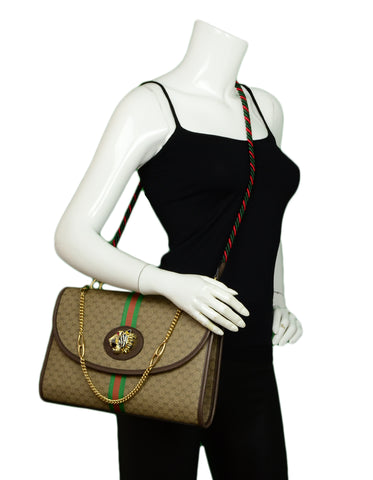 Gucci Monogram Web Medium Rajah Shoulder/Crossbody Bag