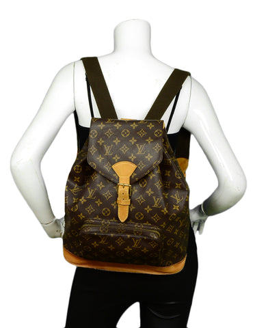 Louis Vuitton Monogram Coated Canvas Montsouris GM Backpack Bag