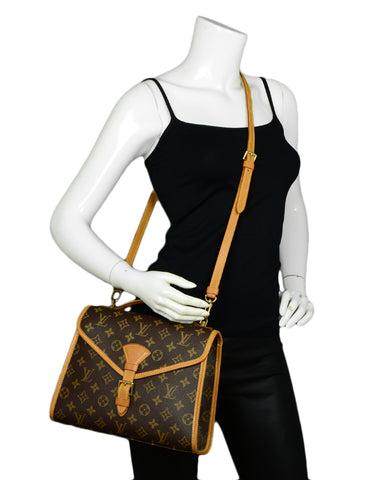 Louis Vuitton Monogram Coated Canvas Top Handle Bel Air Bag with Crossbody Strap