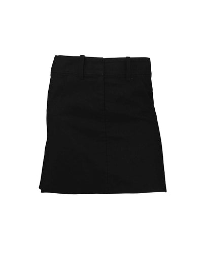 Alexander McQueen Black Cotton Skirt w/ Ruffle sz 38