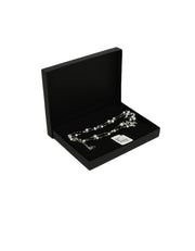 Chanel Black Bead & Faux Pearl Necklace with Strass Crystal CC & Beads
