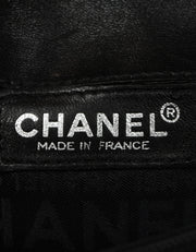 Chanel Black Smooth Leather 2.55 Reissue Lock Belt Bag w/ Chain