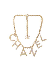Chanel 2019 Sold Out By The Sea Collection Crystal Name Necklace