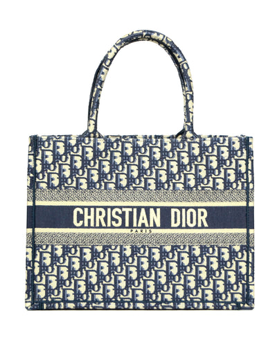 Christian Dior 2020 Blue Oblique Monogram Small Book Tote Bag