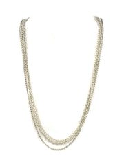 David Yurman Sterling Silver Three-Row Mixed Chain Long Necklace