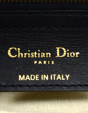 Christian Dior Blue Canvas 2018 Oblique Saddle Bag