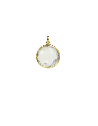 Ippolita White Topaz Charm Bezel set in 18K Gold