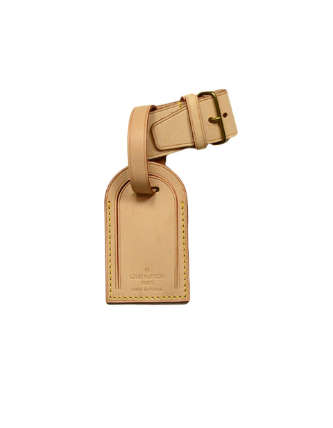 Louis Vuitton Vachetta Leather Luggage Tag and Handle Strap Loop