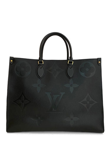 Louis Vuitton Black Empreinte Giant Onthego GM Tote Bag
