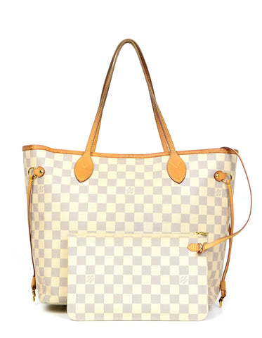 Louis Vuitton Damier Azur Neo Neverfull MM Tote Bag