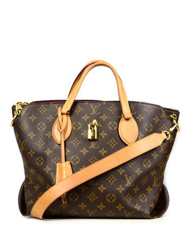 Louis Vuitton Monogram Flower MM Zipped Tote Bag w/ Strap