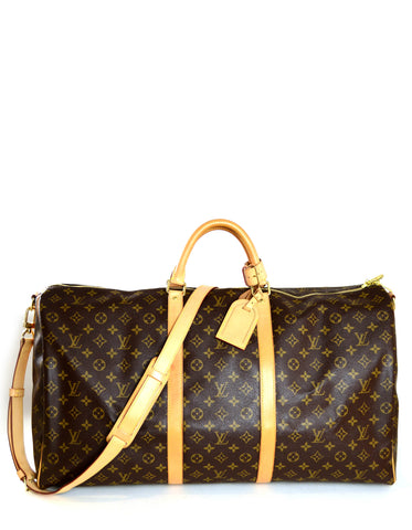 Louis Vuitton Monogram Keepall Bandouliere 60 Duffle Bag