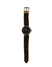 Louis Vuitton Monogram Tambour Brun 28mm Quartz Watch