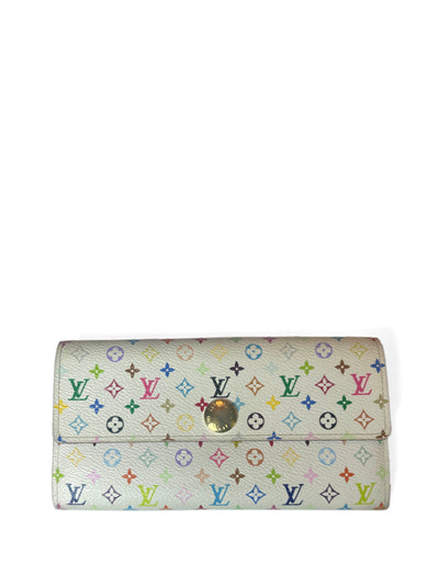 Louis Vuitton White Multicolor Monogram Sarah Wallet