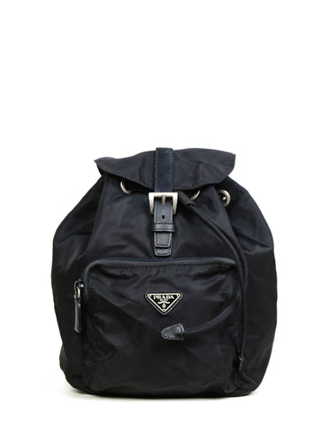 Prada Black Tessuto Nylon Mini Backpack Bag