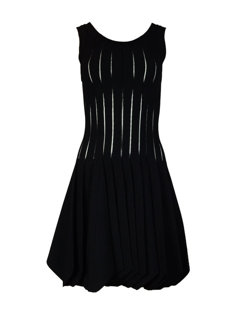 Alaia Black Sleeveless Uneven Hem Skater Dress Sz FR40
