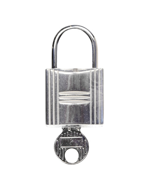"Hermes Palladium Large 1"" Cadena Lock & Key Set #160"