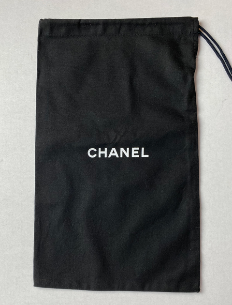 "100% Auth Chanel Set of Two Black Shoe/ Small Bag/ Wallet Dust Bags 12.5""x 7.75"""